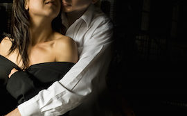 Close up of young sexy couple in an embrace